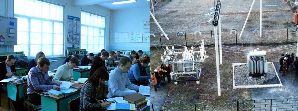 Учебный процесс в аудиториях и учебном полигоне кафедры